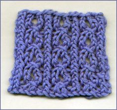 Open Twisted Rib--would make a cute hat & scarf