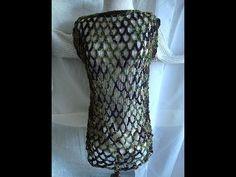 CROCHET CAMO BEACH COVER UP, how to diy, mesh tunic, summer cover, sleeveless top - YouTube