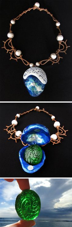Real-life Moana's Necklace and The Heart of Te Fiti | Cosplay costume jewellery perfect for a Disney princess birthday party or dress up