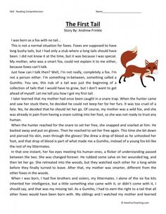 This Reading Comprehension Worksheet - Scared of the Dark is for teaching reading comprehension. Use this reading comprehension story to teach reading comprehension. Free Reading Comprehension Worksheets, Reading Fluency, Reading Passages, Reading Strategies, Teaching Reading, Comprehension Strategies, Reading Lessons, Reading Skills, Math Lessons