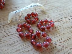 28 Vintage 3.5mm Scrumptious Raspberry Japan by FindingYourElement