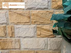 Walling and Landscaping stones. Garden idea - home design - exterior design - architecture - outdoor - natural stone Natural Stone Wall, Natural Stones, Sandstone Cladding, Stone Veneer Exterior, Stone Supplier, House On The Rock, Stone Houses, Stone Work, Exterior Design