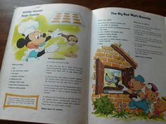 Vintage  Walt Disney's  Mickey Mouse Cookbook recipes from Mickey and his friends