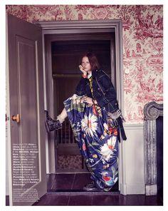 visual optimism; fashion editorials, shows, campaigns & more!: grunge n' roses: vera luijendijk by hans van brakel for marie claire netherla...