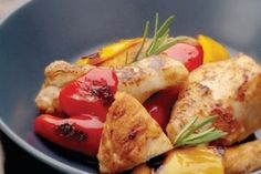 Recette de Ragoût de poulet aux poivrons