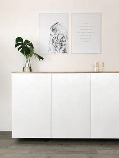 Ikea Hack – Metod Küchenschrank als Sideboard   elfenweiss