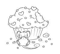 Sliekje digi Stamps: Cupcake mouse