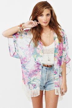 love chiffon kimono for summer