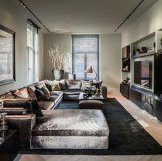 Home Living Room Interior Design Ideas Home Living Room, Interior Design Living Room, Living Room Designs, Luxury Living Rooms, Living Room Modern, Luxury Interior Design, Contemporary Interior, Luxury Home Decor, Floor Design