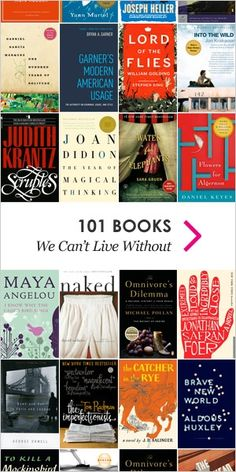 101 Books we Can't Live without