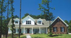 Country House Plan Front Photo 01 for Home Plan also known as the Carwine Ridge Luxury Home from House Plans and More. House Plans And More, Dream House Plans, House Floor Plans, Porch Plans, Country House Plans, Country Homes, Architecture Details, Great Rooms, Luxury Homes