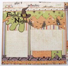Fright+Night+Premade+2+Page+12x12+Scrapbook+by+GLOwormpaperdesigns,+$15.95