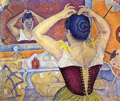 Paul Signac.Woman-Arranging-Her-Hair