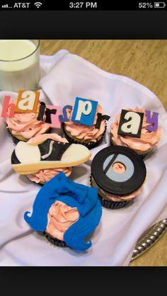 Hairspray cupcakes