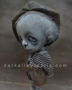 Gothic Artist Doll. BJD. Little Creepy Boy Poppy by Dark Alley Dolls.