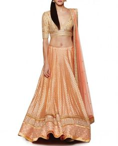 Apricot Lengha with Gota Patti Work Lehenga Skirt, Bridal Lehenga Choli, Saree, Umbrella Skirt, Indian Prints, Indian Outfits, Indian Clothes, Style Inspiration, Wedding Inspiration