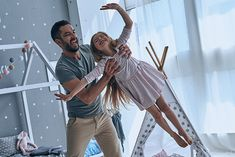 Always happy together. Full length of father carrying his daughter and smiling while spending free time at home Nature Abhors A Vacuum, Happy Together, Human Mind, Model Release, Wasting Time, New Pictures, New Day, Free Photos, Little Boys