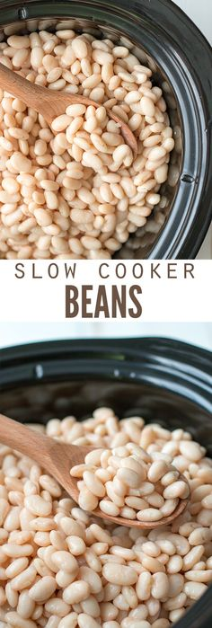 One of the easiest ways to save money on healthy food is to make slow cooker beans. We soak them first to de-gas the beans, and then the slow cooker does the cooking. It's hands off healthy cooking (that's cheapt) at its finest! :: DontWastetheCrumbs.com