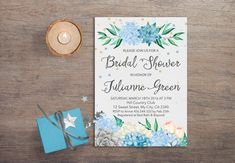 Printable bridal shower Invitation - Floral & Confetti Watercolor Bridal Invitation - Hydrangea & Succulent Invitation (5x7in) This listing is a digital file customized with your personalized information. No printed materials will be shipped. You can print as many as you want! File is delivered electronically through Etsy convo. Please note colors may vary due to how monitors and printers read colors differently, printer settings… we have no control over these variances. You can see ...