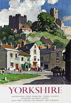 Richmond Yorkshire, British Railways, Railway Posters, Vintage Travel Posters, Retro Posters, All Poster, Famous Artists, Box Art, Illustrators