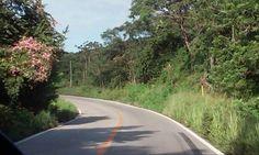 Driving on coastal highway of Oaxaca