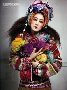 FADELESS FLOWERS - Vogue Korea June 2010. Photos by Hyea W.Kang. Model: Lee Hyun Yi. More inspiration: http://www.fashionstudiomagazine.com/p/inspiration.html