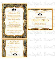 RealTree Camo Wedding Invitation 5x7 Camo Wedding The Hunt Is Over ...