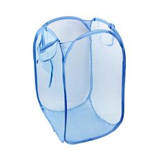 Foldable Pop Up Washing Clothes Laundry Basket Bag Hamper Mesh Storage quality first Storage Baskets, Bag Storage, Kitchen Storage, Folding Laundry Basket, Net Bag, Clothing Storage, Basket Bag, Wash Bags, Hamper