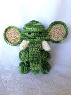 Elephant Ears Knitting Pattern : Amigurumi, Elephant ears and Free pattern on Pinterest
