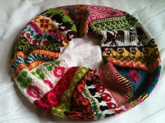 'my favourite things'  - infinity scarf  by jill mcgee  ~ free knitting pattern