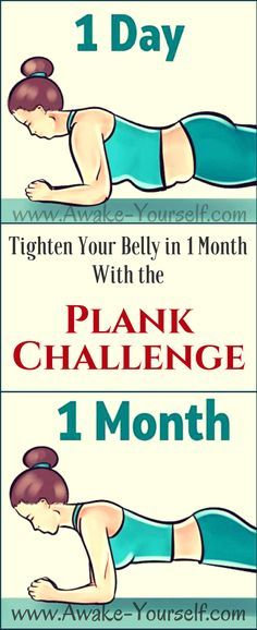 Tighten Your Belly in 1 Month With the Plank Challenge