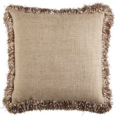 "Confetti Fringe Pillow - Natural  20""W x 20""H Cover: Polyester, acrylic Pier 1 Love the Confetti Fringe... so cute!!"