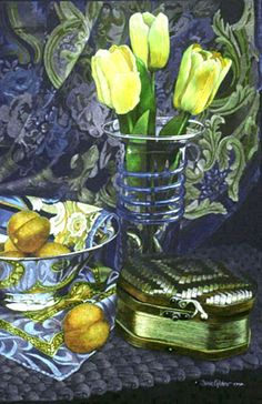 """Janie Gildow - Artist Gallery Detail  """"Emphasis"""" Janie Gildow Colored Pencil on Crescent Rag Mat Image size: 19"""" x 13"""""""