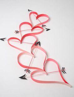 DIY Giant Heart Paper Chain