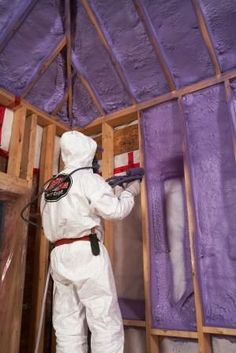 I want spray foam for our tiny house! Why Mike Holmes Likes Spray Foam Insulation. (Mold proof, sound proof, Fire retardant, Over insulation rating, Energy Efficient) Attic Renovation, Attic Remodel, Home Improvement Projects, Home Projects, Home Insulation, Spray Foam Insulation Cost, Insulation Installation, Insulation Materials, Attic Rooms