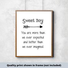 Sweet Boy hand-painted wood sign Sweet Boy Sign Nursery | #boysroom #girlsroom #nurserydecor #nurseryideas #customnamesign #babygirlnursery #babyboynursery #kidsroom #childsroom #newbaby #babydecor #boydecor #girldecor Nursery Signs, Nursery Art, Do It Yourself Decorating, Painted Wood Signs, Hand Painted, Scripture Signs, Bible Verses, Baby Boy Signs, Make Your Own Sign