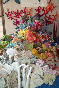 Crocheted Coral Reef - June 2011 - via The Gainesville Florida Reef - Guides @ UF at University of Florida