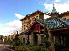 Exterior of the Michlifen Suites in Ifrane, Morocco