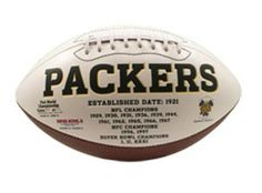 Signature Series Team Full Size Football NFL Packers