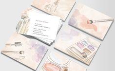 Cartões de visitas criativos para maquiadoras (es) | Assuntos Criativos