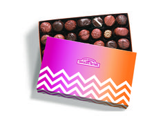 RMCF Soft Chews Gift box contains our signature Soft Centers Gift Box with spring themed sleeve. #chevron