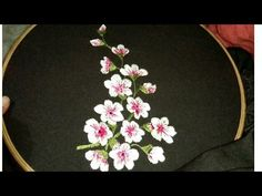 Hand Embroidery | Rose flower design | Stitch and Flower-134 - YouTube