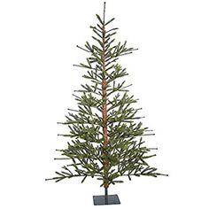 "Vickerman Unlit Bed Rock Pine Tree Artificial Christmas Tree, 7' x 57"""