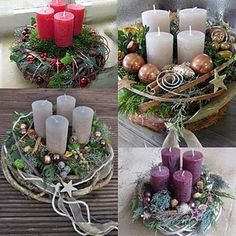 Christmas Advent Wreath, Christmas Crafts, Christmas Decorations, Holiday Decor, All Things Christmas, Christmas Time, Merry Christmas, Xmas, Advent Candles