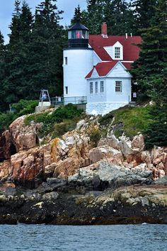 Maine Lighthouses and Beyond: Bass Harbor Head Lighthouse - From the Water - July 2013.