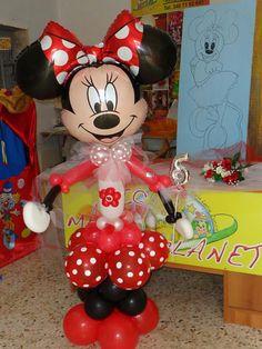 Minnie mouse balloon character !! Cute Idea !!