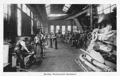 Smithy, Portsmouth Dockyard Portsmouth Dockyard, Naval History, Seafarer, Tall Ships, Royal Navy, Old Pictures, Antique Photos, Old Photos