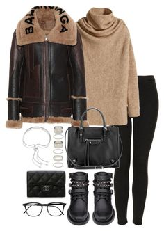 A fashion look from December 2017 featuring Balenciaga, high waisted jeans and black shoes. Browse and shop related looks. Brown Outfit, My Outfit, Cold Weather Fashion, Winter Fashion, Fall Outfits, Cute Outfits, Casual Dresses, Fashion Dresses, Street Style Women