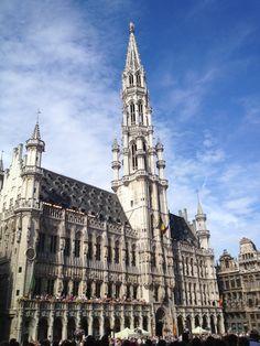 L'hôtel de ville de Bruxelles, sur la Grand Place. Copyright Alexandra Hermanus