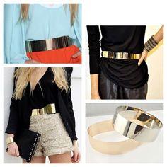 #gold #metallic #belt  #trendy #fashion #style #chic #glamour #look #glam #AsiLoveCamila #moda #tendencias #estilos